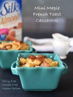 Mini Maple French Toast Casseroles via All Gluten-Free Desserts @shirleygfe @silk