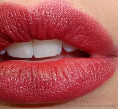 Soft red lips...color is Viva Glam by Mac. Love it!