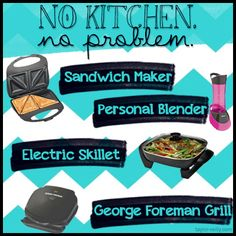 No Kitchen? No problem!  Check out these awesome kitchen gadgets you can use in your dorm!