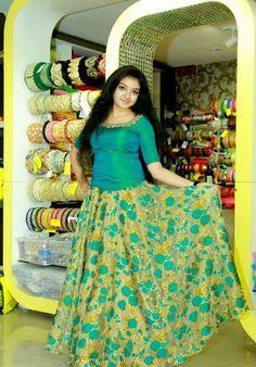 30 Latest Lehenga Saree Blouse Designs to inspire you - Wedandbeyond Churidar Designs, Lehenga Designs, Saree Blouse Designs, Indian Skirt, Indian Dresses, Long Gown Dress, Dress Skirt, Long Frock, Long Skirt And Top