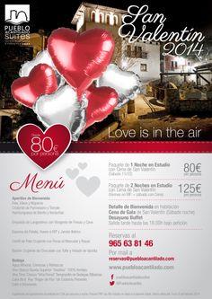 """""""Love is in the air""""... Habrá cena de gala, detalles románticos de bienvenida, desayuno buffet, globos de los deseos y muchas sorpresas más que harán que te vuelvas a enamorar."""