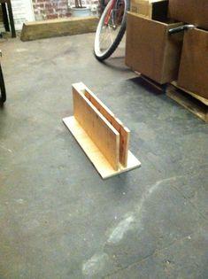 wooden bike stand    From matthewcmckee.com