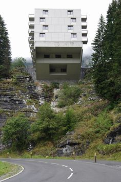 residential block of a ski resort in the high alps by marcel breuer