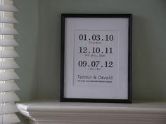 Wedding Gift - Special dates