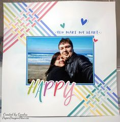 Paper DragonFleur: Cross Canada Hop, February 2019, CTMH, I Heart Us, Scrapbooking Layouts, Scrapbook Pages, Project 4, Close To My Heart, Page Layout, Just Love, Christmas Cards, Card Making, Lay Outs
