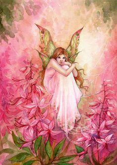 Fairy and Fantasy art by Janna Prosvirina - Pink Beauty