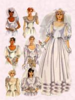 Another feature of wedding dresses was the big sleeves, which reached massive puffed fullness. Big to elbow puffed sleeves were made popular after the wedding of Princess Diana. Typical dress pattern of 1980s Wedding Dress, Western Wedding Dresses, Wedding Bridesmaid Dresses, Wedding Dress Styles, Bridal Dresses, Wedding Gowns, Old Wedding Photos, Wedding Dress Pictures, Diana Wedding