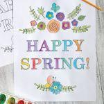 Watercolor Spring Printable