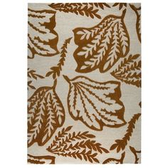 M.A. Trading Leaf Hand-Tufted Rust Area Rug Rug Size: 8' x 10'