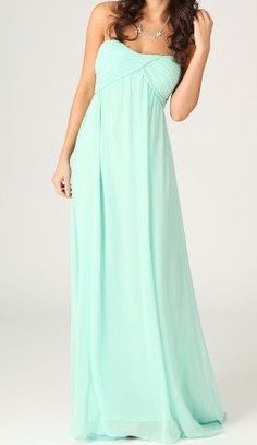 Grecian Mint Maxi Dress...love the style for bridesmaids