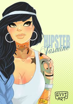 Tattooed Disney Princesses – The illustrations by Emmanuel Viola