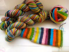 self-striping sock yarn by TrailingClouds on Etsy