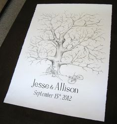 Extra Large Guestbook Hand-drawn Fingerprint Tree. $135.00, via Etsy. Fingerprint Wedding, Fingerprint Tree, Wedding 2015, Tree Wedding, Wedding Stuff, Pulling An All Nighter, I Got Married, Guestbook, Wedding Pictures