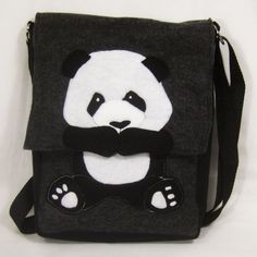Pouty Panda Hip Bag made of felt from recycled water bottles. $40.00, via Etsy.