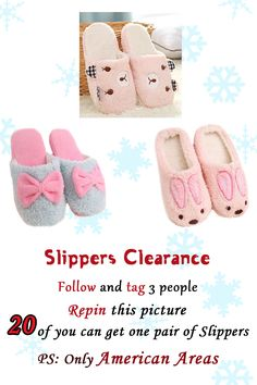Oasap New Event ❤ We will choose 20 of the repiners to send the cute Slippers as you can see in this picture. But pleae pay attention, only American areas can get it this time~