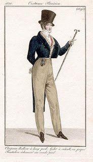 Costume Parisien 1820 via Serendipitous Stichery