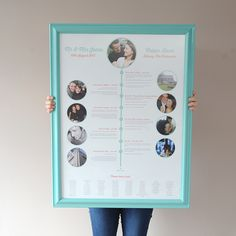 A relationship timeline wedding table plan £85.00 Mary Loves Bob on Etsy