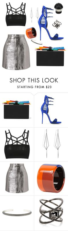 """Neon Drift"" by cbmalloy ❤ liked on Polyvore featuring Edie Parker, Giuseppe Zanotti, Diane Kordas, Miss Selfridge, Hermès, David Yurman, Eva Fehren and House of Sillage"