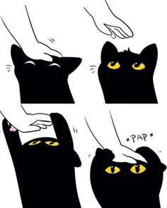 Image uploaded by Find images and videos about black, cat and kawaii on We Heart It - the app to get lost in what you love. Animal Memes, Funny Animals, Cute Animals, Crazy Cat Lady, Crazy Cats, I Love Cats, Cute Cats, Cute Black Cats, Cute Comics