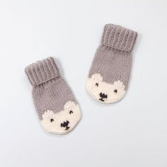 Penelope Polar Bear Mittens Knitting pattern by Amy Philip Baby Knitting Patterns, Free Knitting, Knitting Kits, Free Crochet, Crochet Patterns, Toddler Mittens, Paintbox Yarn, Knit Mittens, Knitted Mittens Pattern