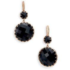 Ivanka Trump 'Rose Gold' Stone & Diamond Earrings ($1,700) found on Polyvore