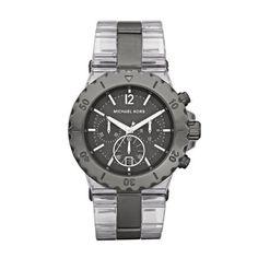 Michael Kors Bel Aire Chronograph Gunmetal Ladies Watch MK5500 Michael Kors. Save 25 Off!. $169.00. Gunmetal Dial. Bel Aire. Clear Band. Chronograph. Date Display