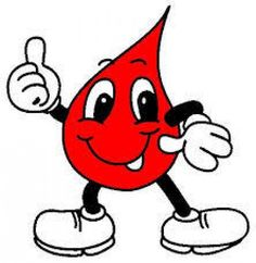 Drop mascot as blood donation concept