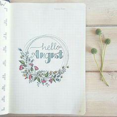 August - Bullet Journal