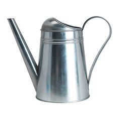 "IKEA SOCKER Watering can, galvanized steel $4.99 Galvanized for rust resistance. Height: 6"" Volume: 88oz"