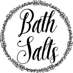 DIY bath salts labels