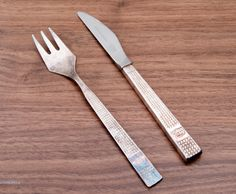 Free Shipping! Vintage British Airways Crown Atkinson Sheffield  Knife and Silver Plated Fork (27.00 GBP) by Littlemix