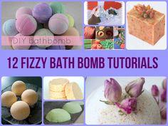 12 Fizzy Bath Bomb Tutorials