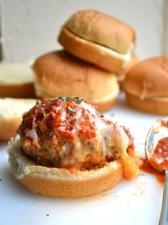 Make a meatball sub mini by using slider buns. Get the recipe from Rachel Schultz.