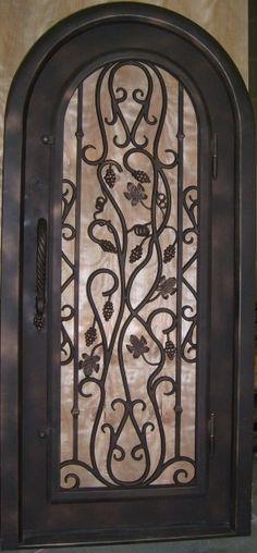 Wrought Iron Door. Love this!