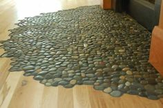 Pebble inset for hearth...Green Homes for Sale - Asheville, North Carolina Green Home