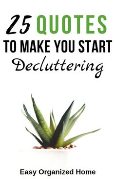 These 25+ awesome quotes are exactly what you need to hear to finally start decluttering! Find inspiration, motivating and funny quotes about decluttering. #decluttering #quotes #quotesoftheday #declutter #minimalist