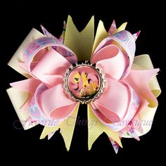 My Little Pony Fluttershy Hair Bow with by FavoriteThingsBows, $8.99