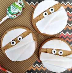 Easy Mummy Halloween Cookies