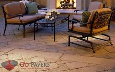 Belgard Mega Bergerac paving stones from Belgard carry a pastoral style that calls back to a time of hallowed Roman stone design sensibilities.The time-honored dimpled surface of these pavers are inspired by the earlier work of ancient stone craftsmen. 3d Landscape, Modern Landscape Design, Landscape Plans, Modern Landscaping, Belgard Pavers, Outdoor Spaces, Outdoor Decor, Unique Plants, Paving Stones