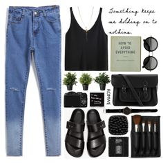 Playin' it cool by mihreta-m on Polyvore featuring Common Projects, The Cambridge Satchel Company and The Body Shop