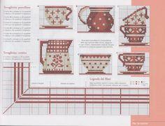 Point de croix *♥* Cross stitch Nice tea set sampler
