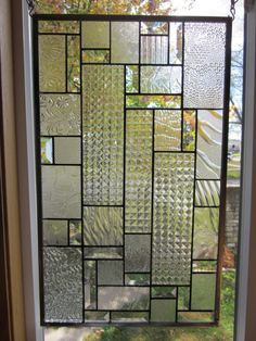 Luminosity Stained Glass Window Panel Abstract Geometric EBSQ Artist Stained Glass Projects, Stained Glass Art, Stained Glass Windows, Window Glass, Lattice Screen, Glass Art Pictures, Craftsman Interior, Window Types, Glass Partition