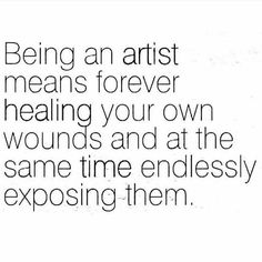 Vulnerability & healing are interconnected when it comes to my creative endeavors.