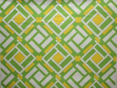 Vintage Wallpaper - Retro Wallpaper - Yellow and Green Geometric. Seriously perfect for the boys room!