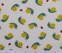 Cute sleep snails fabric!
