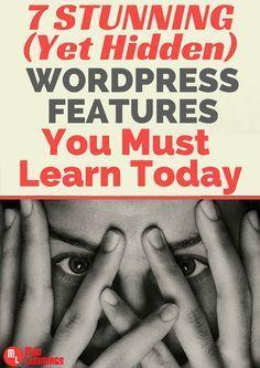 Learn Some Powerful WordPress Features You Probably Did not Know #wordpress Analisamos os 150 Melhores Templates WordPress e colocamos tudo neste E-Book dividido por 15 categorias e nichos de mercado. Download GRATUITO em http://www.estrategiadigital.pt/150-melhores-templates-wordpress/