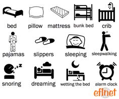 Bedtime - Picture Vocabulary Worksheet 1 | EFLnet