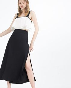 Image 4 of LONG SKIRT WITH SLITS from Zara
