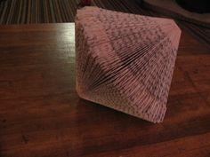 Diamond Shaped Folded Book