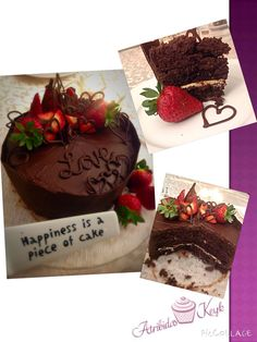 Devils food cake with Atribida's twist.... Choc chunk, white choc filling :D